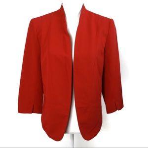 T544 LC Lauren Conrad Red Blazer Size 10